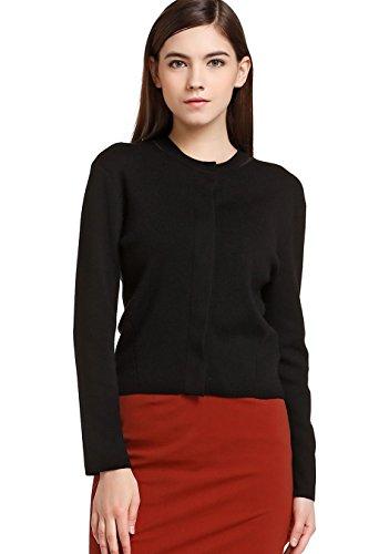 FOURTYFOUR Women's Short Leisure Knitwear XXXX-Large Black by FOURTYFOUR