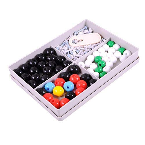 Chemistry Teaching Model Kit Chemistry Learning Tool JM Molecular Model Kit Organic Chemistry Set Colorful Chemistry Learning Aid 123 Pieces