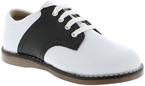 FootMates Unisex Cheer 3 (Infant/Toddler/Little Kid) White/Black Oxford 6 Toddler (Baby Saddle Shoes)