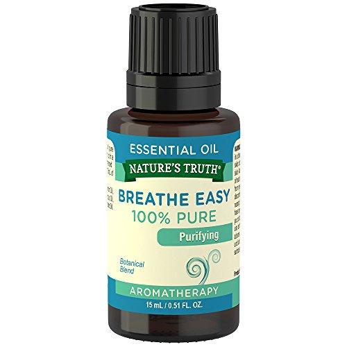 Nature's Truth Essential Oil, Breathe Easy, 0.51 Fluid (Revitalizing Essential Oil Blend)