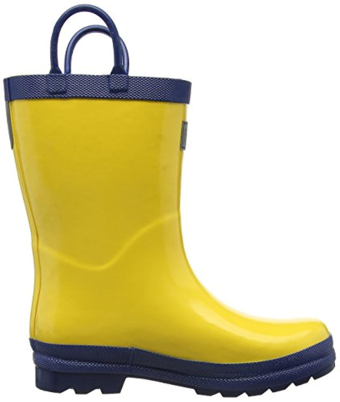 Hatley Rainboots -Yellow & Navy, Boys' Rain Boots, Multicolor (Yellow), 4 Child UK (22 EU)