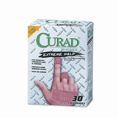 Extreme Hold Bandages, Assorted Sizes, 30 per Box [Set of 2] by Curad