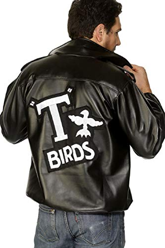 Cheap T Bird Jacket (Mens Grease T-Birds Jacket Stag Do Night Party Film Movie Fancy Dress Costume Outfit)