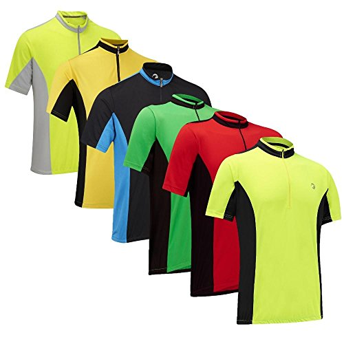 Tenn Mens Coolflo S/S Cycling Jersey - Hi-Viz Yellow/Grey -