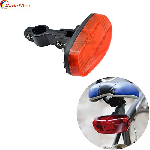 MarketBoss Cool T16 Bicycle GPS Tracker with Bike LED Tail Light and GSM Alarm Hidden/Anti Theft Lost/Remote Lock Keep Your Loving Bike Safe