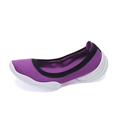 Élasticité Femmes Respirant Mesdames Baskets ons Slip Course amp; Mocassins De Plats Chaussures Basses C Marche Légère 4fB4q