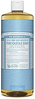 product image for Dr. Bronner's Magic Soaps Pure-Castile Soap, 18-in-1 Hemp Unscented Baby Mild, 32 oz