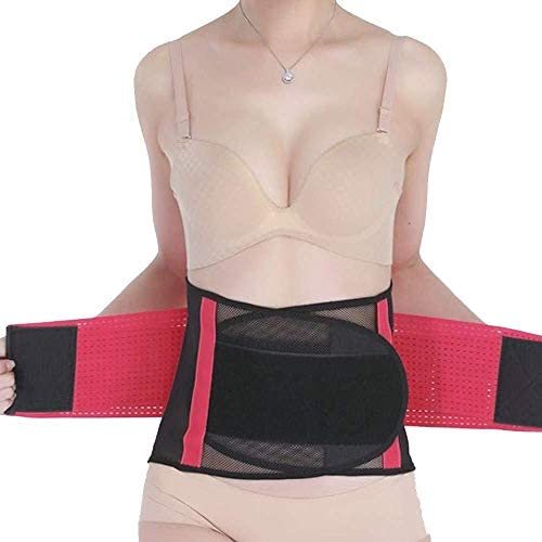 巧妙な背部サポートベルト、高弾性繊維の腰ブレース生地、通気性/快適、背部緩和用のスポーツベルト、脊柱側弯症または椎間板ヘルニア、赤XL