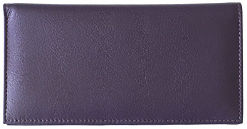 Purple Basic Leather Checkbook Cover