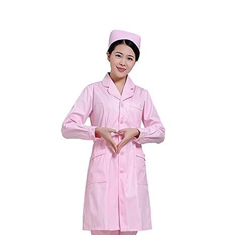 Xuanku Enfermera Enfermera Belleza Ropa De Manga Corta Manga Larga Ropa Vestir Batas Blancas Tatuaje Farmacia: Amazon.es: Ropa y accesorios