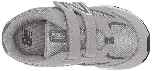 New Balance Boys' 888v2 Hook and Loop Running Shoe, Grey, 2 M US Infant by New Balance (Image #7)