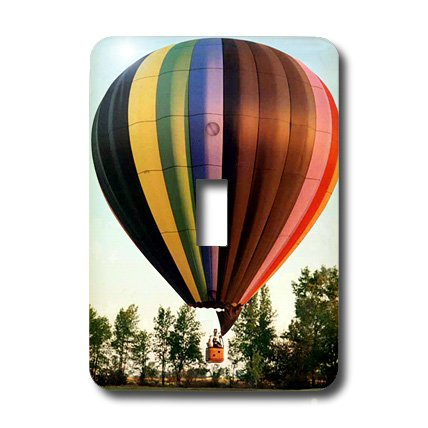 3dRose LLC lsp_1154_1 Hot Air Balloon, Single Toggle Switch by 3dRose