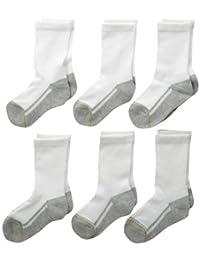 Gold Toe Big Boys' Athletic Crew Sock Six-Pack