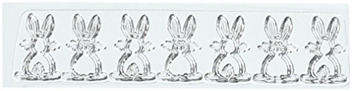 """Two Paper Divas C203 Bunny Border Stamps, 7"""" by 4.5"""", Clear"""