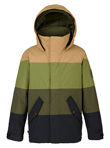 Burton Boys Symbol Jacket, True Black/Forest Night/Olive Branch, (Snow Branch)