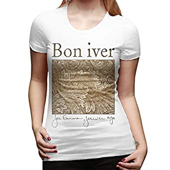 bon iver women 39 s t shirt casual o neck short sleeve tees tops clothing. Black Bedroom Furniture Sets. Home Design Ideas