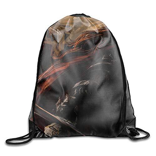 (Fantasy Women Warrior Unisex Lightweight Backpack Gym Drawstring Bag)
