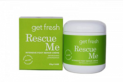 Get Fresh Feet Rescue Me Intensive Foot Repair Crème, 6 oz - Lemongrass Foot Creme
