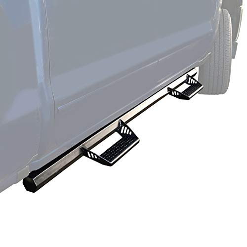2005-2019 Yukon Trail LJX-TX-69 Black Coated Hexagon Style Running Board Fit Toyota Tacoma Double Cab