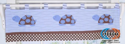 GEENNY Window Valance, Boutique Sea Turtle