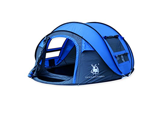 HuiLingYang Outdoor Instant 4-Person Pop Up Dome Tent - Easy Automatic Setup -Ideal Shelter for Casual Family C&ing Hiking  sc 1 st  Hiking Gear Store & HuiLingYang Outdoor Instant 4-Person Pop Up Dome Tent - Easy ...
