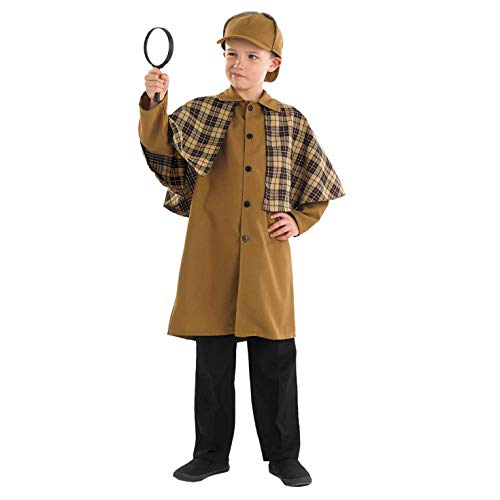 fun shack Childrens Victorian Detective Costume Kids Historical Book Day Outfit - Large