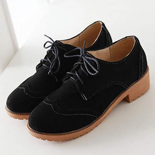 Comodo Melady Shoes Brogue Mujer Negro wXxqOY6