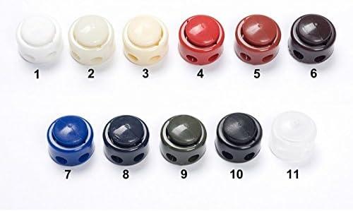 Farbe 02 creme Jajasio 10 Kordelstopper 2 loch bis 5mm Kordeldurchmesser #13