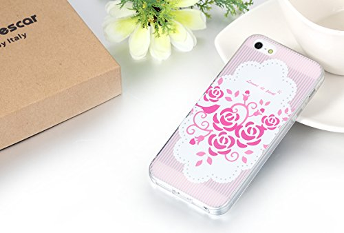 "JewelryWe ""femme de pivot"" Pink Blumen Knospen TPU Silikon Handy Case Schutzhülle Tasche Hülle Rückenschutzhülle Etui für Apple iPhone 5/5S"
