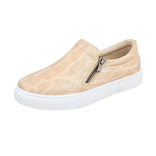 Ital-Design Scarpe da Donna Sneaker Piatto Sneakers Low Oro Taglia 37 0bGSwlOK