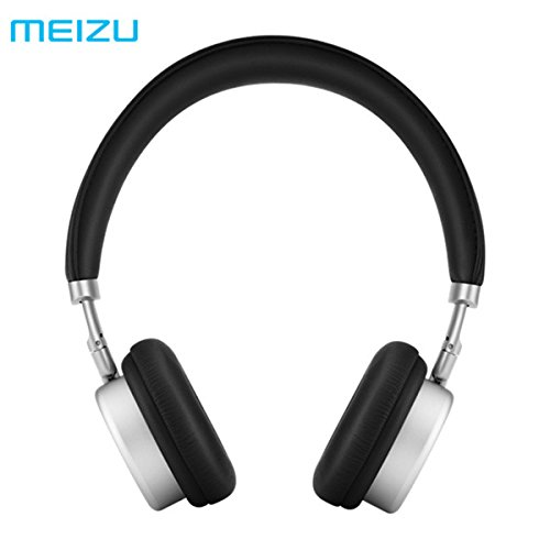 Original MEIZU HD50 Adjustable HIFI Stereo Metal Headphone Headset With Mic, Black & Silver
