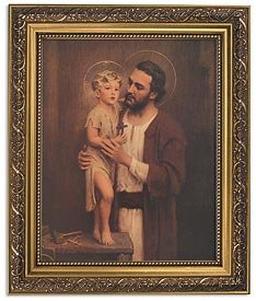 US Gifts Chambers: Saint Joseph Series BestsellersPrint in Ornate Gold Finish Frame Wx H