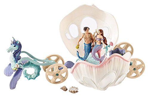 Image of the Schleich Bayala Mermaids: Royal Seashell Carriage Toy Figure