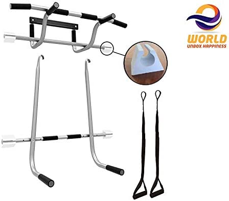 EWORLD® Health & Fitness 3 in 1 Portable Home Door Exercise