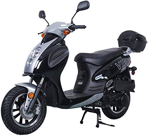 150cc Moped Scooter Motorcycle Scooter 150 Adult Scooter Gas Moped Scooter (Black)