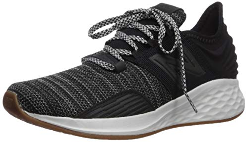 New Balance Boys' ROAV V1 Fresh Foam Running Shoe, Black/Summer Fog, 3.5 M US Big Kid (Best Running Shoes For Children)