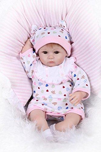 NPK doll Reborn Baby Doll Soft Silicone 18inch 45cm Magne...
