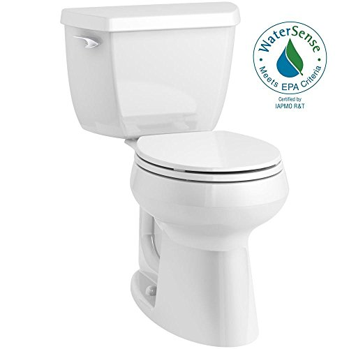 (KOHLER Highline Classic Complete Solution 2-piece 1.28 GPF Single Flush Comfort Height Round-Front Toilet in White)