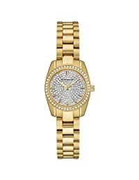 Wittnauer WN4075 Ladies Lucy Mini Gold Plated Band Grey-Pearl Dial Watch