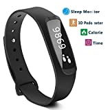 Smart band, Step Tracker, Pedometer Smart Bracelet Fitness Activity Tracker/ H1 Sleep Monitor,Calories Track Waterproof Bluetooth Health Fitness Band for iPhone & Android phones, EIISON