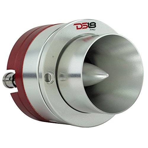 DS18 PRO-TW710 High Compression Titanium Super Bullet Tweeter 1-Inch 200W Max / 100W RMS with Built In Mylar Capacitor Filter - (1 Speaker) (Titanium Bullet)