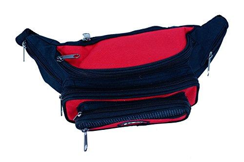 Gürteltasche Bauchtasche Sport mit 7 Fäschern Farbe rot Fa. Bowatex