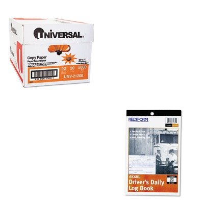 (KITRED6K681UNV21200 - Value Kit - Rediform Driver's Daily Log (RED6K681) and Universal Copy Paper (UNV21200))