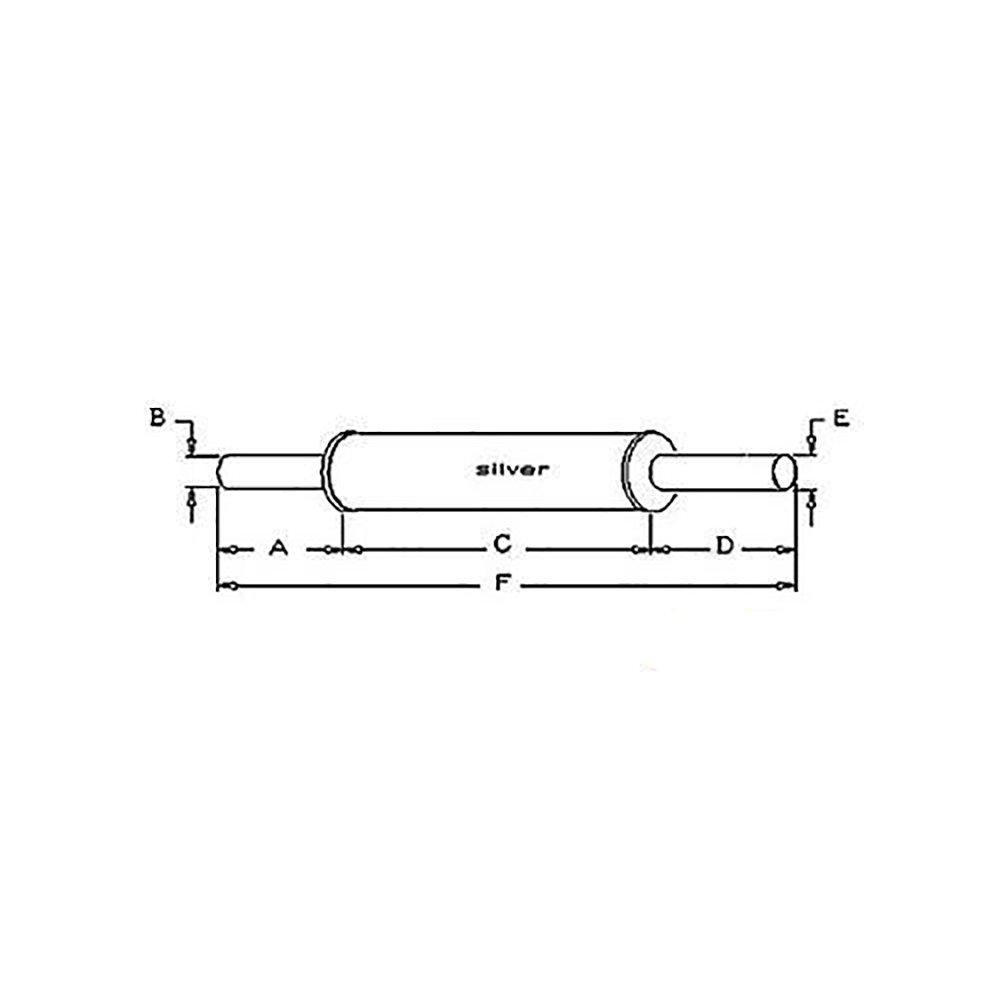 K924341 Vertical Round Body Muffler For David Brown Tractor 1210 Wiring Diagram 1200 770 880 885 995 Industrial Scientific