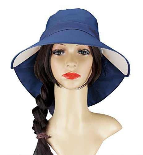 Image Unavailable. Image not available for. Color  Womens Sun Hat Beach Summer  Flap Cover ... eba184bcedcb