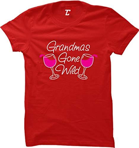- Grandma's Gone Wild - Wine Women's T-Shirt (Red, X-Large)