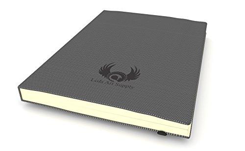 Leda Art Supply The Perfect Premium Medium Sketch Book (8.25 x 5.5) 160 Tear Resistant Pages by Leda Art Supply