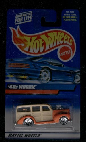 '40s WOODIE * ORANGE * 2000 HOT WHEELS Basic Car 1:64 Scale Series * Collector #193 * ()
