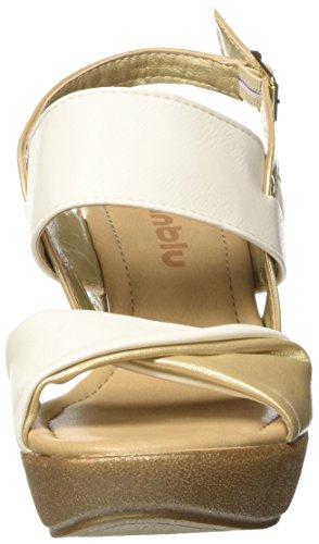 In Blu Vp000016, Sandalias con Plataforma para Mujer Blanco