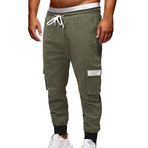 Jogging Cordon Serrage De Pantalon Holywin Verte Hommes Vrac Jeans En Avec Pour Armée Mode Décontracté HaPtanA